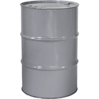 """55 Gallon Ring Dip Gray Steel Drum, Reconditioned, Unlined, Cover w/Lever Lock Ring, 2"""" & 3/4"""" Fittings"""