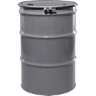 """55 Gallon Sungray Steel Drum, Reconditioned, UN-Rated, Unlined, Cover w/Bolt Ring, 2"""" & 3/4"""" Fittings"""
