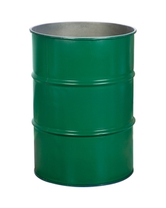 55 Gallon Green Steel Drum, Reconditioned (No Cover)