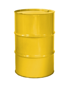 """55 Gallon Shell Yellow Tight Head Steel Drum, Reconditioned, UN Rated, 2"""" & 3/4"""" Fittings, Lined"""