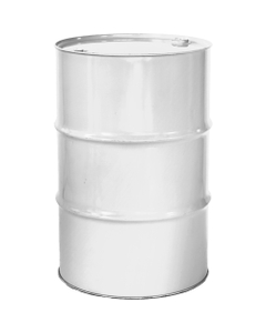 """55 Gallon White Tight Head Steel Drum, Reconditioned, UN Rated, 2"""" & 3/4"""" Fittings, Lined"""