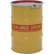 30 Gallon Steel Salvage Drum, Cover w/Bolt Ring Closure (16/18 Gauge)