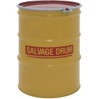 85 Gallon Steel Salvage Drum, UN-Rated, Unlined, 18GA, Cover w/Bolt Ring