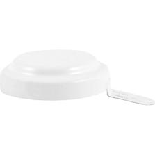 "3/4"" White Aluminum Capseal with Corner Gasket"