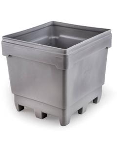 MonsterCombo® 2748, 318 Gallon Bin, 4-Way Molded Base (Gray)
