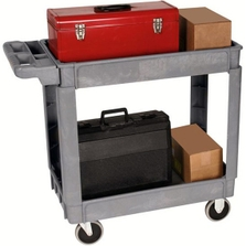 "24"" x 36"" Deluxe Plastic Service Cart, 550 lb. Capacity"