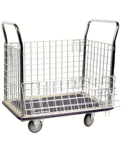 """23"""" x 35"""" Wire Caged Steel Platform Truck, 660 lb. Capacity"""