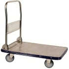 """19"""" x 29"""" Stainless Steel Folding Handle Truck, 440 lb. Capacity"""