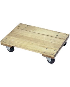 """24"""" x 16"""" Wood Dolly, Solid Platform, 4"""" Casters, 1,200 lb. Capacity"""