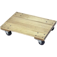 """30"""" x 18"""" Wood Dolly, Solid Platform, 4"""" Casters, 1,200 lb. Capacity"""