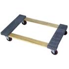"36"" x 24"" Wood Dolly, Open Deck Carpet End, 4"" Casters, 1,200 lb. Capacity"