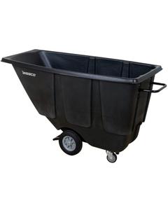 1/2 Cu. Yd. Black Utility Tilt Cart, 450 lb. Capacity