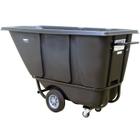 1/2 Cu. Yd. Black Standard Tilt Cart, 850 lb. Capacity