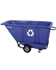 1/2 Cu. Yd. Blue Recycle Standard Tilt Cart, 850 lb. Capacity