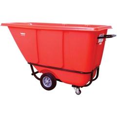 1/2 Cu. Yd. Red Standard Tilt Cart, 850 lb. Capacity