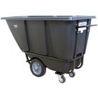 1/2 Cu. Yd. Black Heavy-Duty Tilt Cart, 1,400 lb. Capacity
