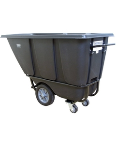 1/2 Cu. Yd. Black Fork-Lift Tilt Cart, 850 lb. Capacity