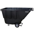 1 Cu. Yd. Black Utility Tilt Cart, 850 lb. Capacity