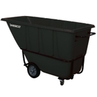 1 Cu. Yd. Black Standard Tilt Cart, 1,250 lb. Capacity