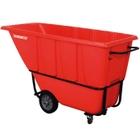 1 Cu. Yd. Red Standard Tilt Cart, 1,250 lb. Capacity