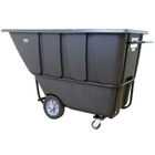 1 Cu. Yd. Black Heavy-Duty Tilt Cart, 2,100 lb. Capacity