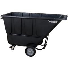 1 Cu. Yd. Black Fork-Lift Tilt Cart, 1,250 lb. Capacity