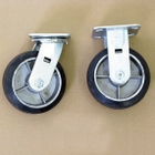 """6"""" x 2"""" Moldon Rubber Casters Set, 2,000 lb. Capacity, for Thrifty Plate Platform Trucks"""