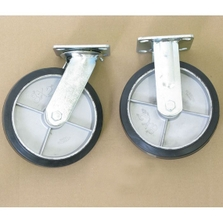 """8"""" x 2"""" Moldon Rubber Casters Set, 2,400 lb. Capacity, for Thrifty Plate Platform Trucks"""