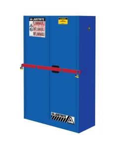 Sure-Grip® EX High Security Corrosives/Acid Safety Cabinet, 45 Gallon, M/C Doors, Blue