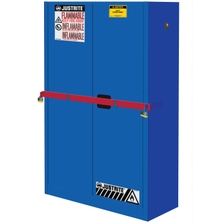 Sure-Grip® EX High Security Corrosives/Acid Safety Cabinet, 45 Gallon, S/C Doors, Blue