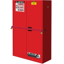 Sure-Grip® EX High Security Flammable Safety Cabinet, 45 Gallon, M/C Doors, Red