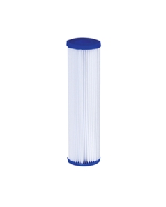 """Economy grade 2-1/2 x 10"""" pleated filter cartridge shown (available in lengths up to 40"""")"""