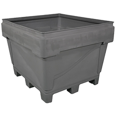 ArmorBin® 3048, 318 Gallon Heavy Duty Bin, 4-Way Replaceable Base (Gray)