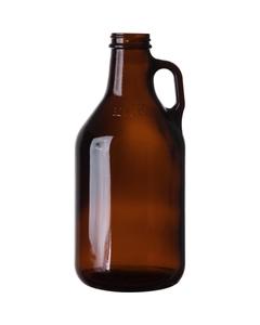 32 oz. Amber Glass Beer Growler, 38mm 38-405, 12/cs