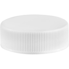 33mm 33-400 White Ribbed (Smooth Top) Plastic Cap w/PV Liner