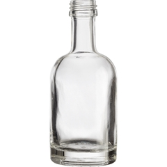 50ml Clear Glass Nordic Liquor Bottle, 18mm Screw Top, 120/cs