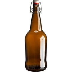 1 Liter (32 oz.) Amber Swing Top Beer Bottles, EZ Cap, 12/cs