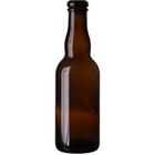 12.68 oz. (375 ml) Amber Glass Belgian Beer Bottles, Cork (Bulk Pack)