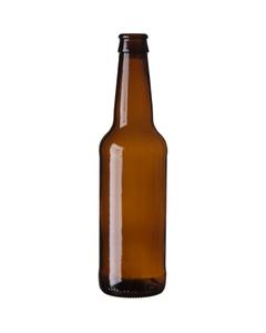12 oz. (355 ml) Amber Glass Long Neck Beer Bottle, Crown Pry-Off (Bulk Pack)