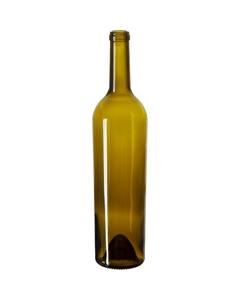 750 ml Antique Green Bordeaux Wine Bottles, Punted Bottom, Taper, Cork, 12/cs (heavy)
