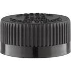 28mm 28-400 Black Child Resistant Cap (PDT) w/HIS Liner for HDPE