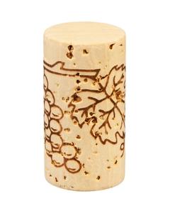 "Grade 2 ""Extra"" Natural Wine Corks, Print, 38 x 24 mm (Very High Grade), 1,000/pk"