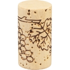 "Grade 2 ""Extra"" Natural Wine Corks, Print, 45 x 24 mm (Very High Grade), 1,000/bag"