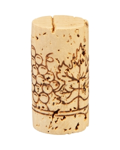 "Grade 3 ""Super"" Natural Wine Corks, Print, 49 x 24 mm (Higher Grade), 1,000/pk"