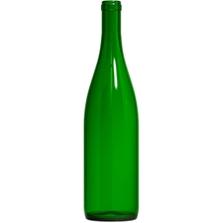 750 ml Champagne Green California Hock Wine Bottles, Cork 12/cs
