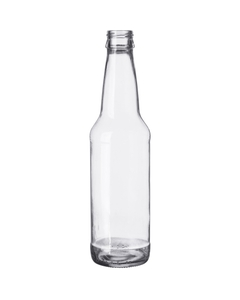 12 oz. (355 ml) Clear Glass Long Neck Beer Bottle, Crown Twist-Off, 26-502 (Bulk Pack)