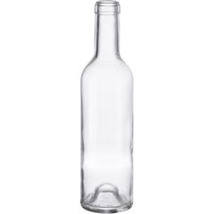 375 ml Clear Bordeaux Wine Bottles, Punted, Cork 12/cs
