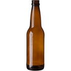 12 oz. (355 ml) Amber Glass Long Neck Beer Bottle, Crown Pry-Off, 26-611