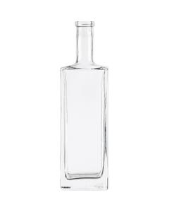 750 ml Clear Glass Liberty Liquor Bottle, Bar Top, 12/cs