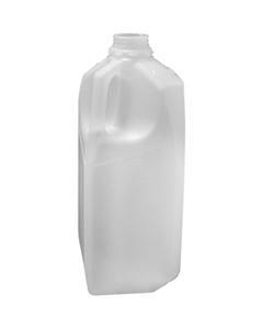 1/2 Gallon (64 oz.) Natural HDPE Plastic Dairy Milk Jug, 38mm 358DBJ, 43 Grams